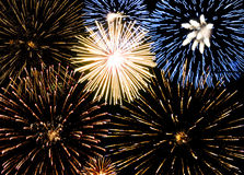 Background fireworks Royalty Free Stock Images
