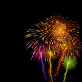 Background with fireworks Stock Image