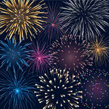 Background with fireworks Royalty Free Stock Photos