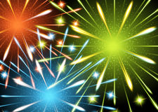 Background fireworks colors. Template card Royalty Free Stock Photography