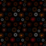 Background with Fireworks Design. Black blackground, illustration Stock Images