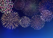 Background with Fireworks Stock Images