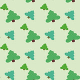 The background firs. Seamless ornament composed of a mass of green fur-trees Stock Photos