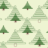 The background firs. Seamless ornament composed of a mass of green fur-trees stock illustration