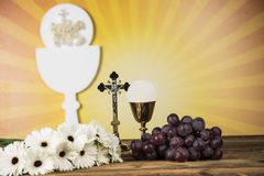 The background of the First Holy Communion stock photography