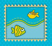 Background with a fish. Stock Image