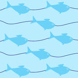 Background with fish Royalty Free Stock Photos