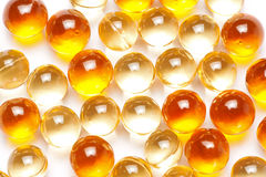 Background of fish oil capsules Stock Photos