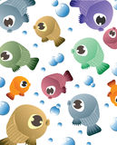 Background with fish pattern. Illustration of background with fish pattern against white backgroung Stock Images