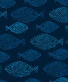 Background with fish. Vector background with fish on a blue background, abstract background stock illustration