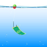 Background fishing money, vector Royalty Free Stock Photography