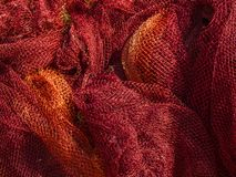 Fishing net. Texture can use as background. Element for copy space. Background of a fishing net. Close up view of colored fishing net. Fishing net background royalty free stock images