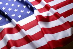 Free Background Flag Of The United States Of America For National Federal Holidays Celebration And Mourning Remembrance Day. USA Symbol Royalty Free Stock Photography - 114115707