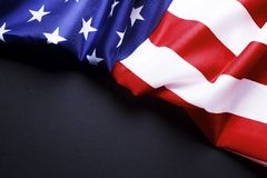 Background flag of the United States of America for national federal holidays celebration and mourning remembrance day. USA symbol. Patriotic composition w/ Stock Image