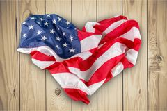 USA United State of America flag on green. Background flag usa green red white blue royalty free stock images