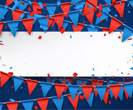 Background with flags. Festive background with garland of flags. Vector paper illustration Royalty Free Stock Images