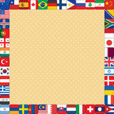 Background with flags frame Stock Photos