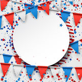 Background with flags and stars. Round background with flags and stars. Vector illustration royalty free illustration