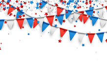 Background with flags and stars. Vector illustration royalty free illustration