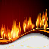 Background with flame Stock Image