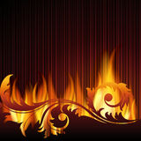 Background with flame. Stock Image