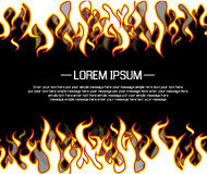 Background flame style cartoon. For web Stock Photo
