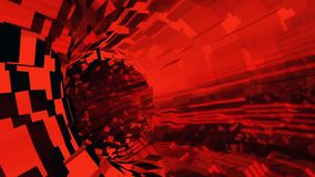 Background flight in sci-fi tunnel. 3D rendering. Abstract background with flight in sci-fi tunnel Stock Image