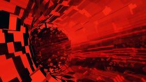 Background flight in sci-fi tunnel. 3D rendering. Abstract background with flight in sci-fi tunnel vector illustration
