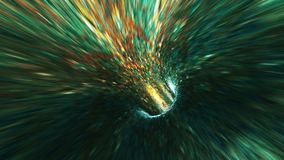 Background with flight in sci-fi tunnel with fantastic lights. Abstract background with flight in sci-fi tunnel with fantastic lights stock illustration