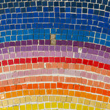 Background of floor with colorful mosaic Royalty Free Stock Image