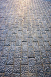 Background of floor with paving stones Royalty Free Stock Images
