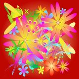 Background floral. Background flowers color style  illustration Royalty Free Stock Image
