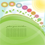 Background floral. With copy space for text royalty free illustration
