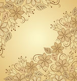 Background floral. The light brown background floral decoration Royalty Free Stock Image