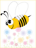 Background with floral, bee Royalty Free Stock Images