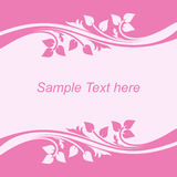 Background with floral Borders in shades of pink. Royalty Free Stock Photography