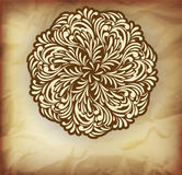 Background with floral element. Abstract swirl illustration Royalty Free Stock Images