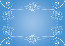 Background with floral elements. Blue background with floral elements vector illustration Royalty Free Stock Images