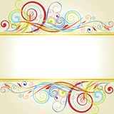 Background floral frame design Royalty Free Stock Photo