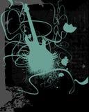 background floral guitar Arkivfoto
