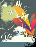 background floral illustrated Royaltyfri Fotografi