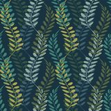 Background with floral motif. Vector texture with hand drawn plants. Vector pattern. Stylised spikelets, natural background Royalty Free Stock Photos