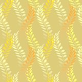 Background with floral motif. Vector texture with hand drawn plants. Vector pattern. Stylised spikelets, natural background Royalty Free Stock Image
