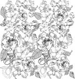 Background with floral ornament Stock Photo