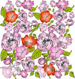 Background with floral ornament. (color Stock Photos