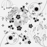 Background with floral ornament Stock Photos