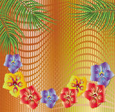 Background with floral ornament. For various design artwork stock illustration