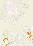 Background with floral ornament Stock Photography