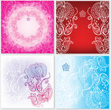 Background with floral ornament Royalty Free Stock Images