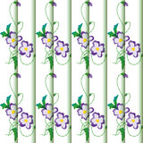 Background with floral ornament. Delicate purple flower background waves royalty free illustration